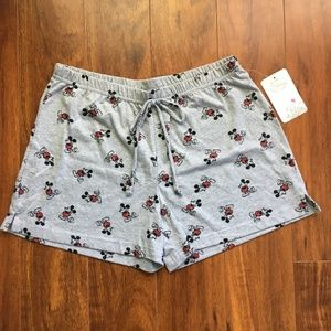 NWT Disney Mickey Mouse Gray Lounge Shorts